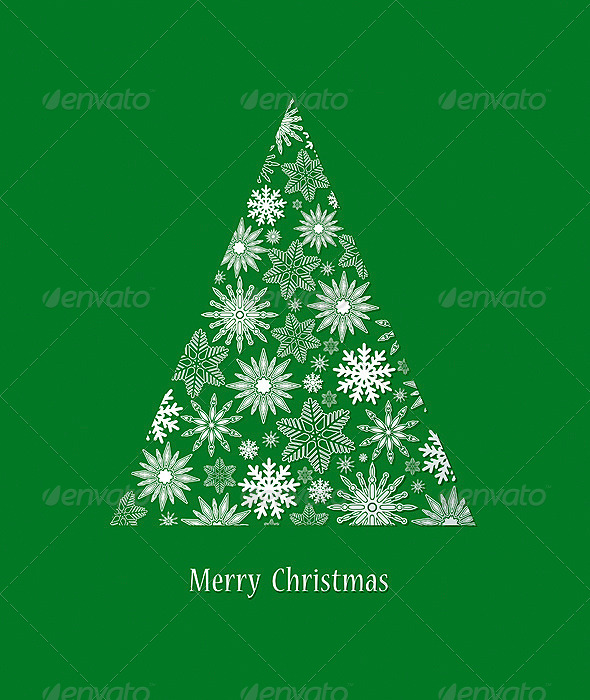 GraphicRiver Card with Christmas Tree 6241172