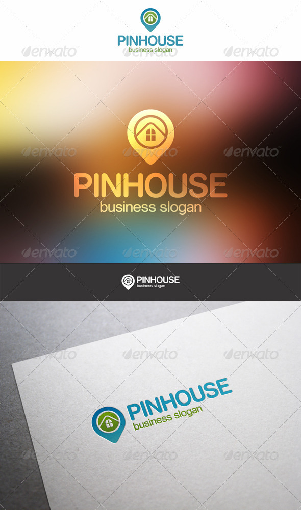 GraphicRiver Pin House Building Logo 6241781