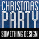 Christmas Party Typography Flyer Print Template - GraphicRiver Item for Sale