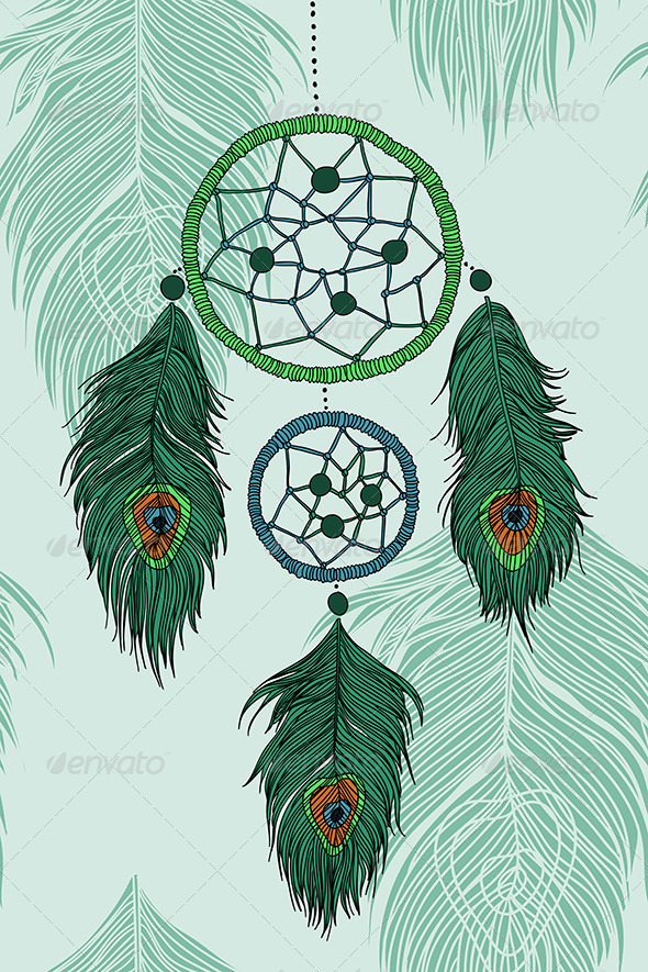 GraphicRiver Peacock s Dreamcatcher 6243627
