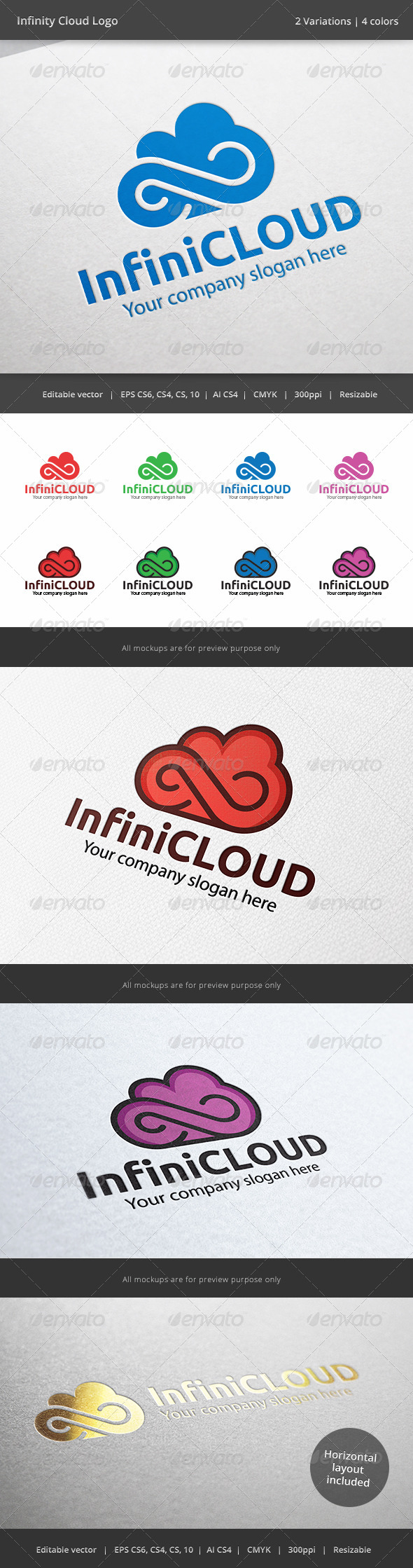 GraphicRiver Infinity Cloud Logo 6243164