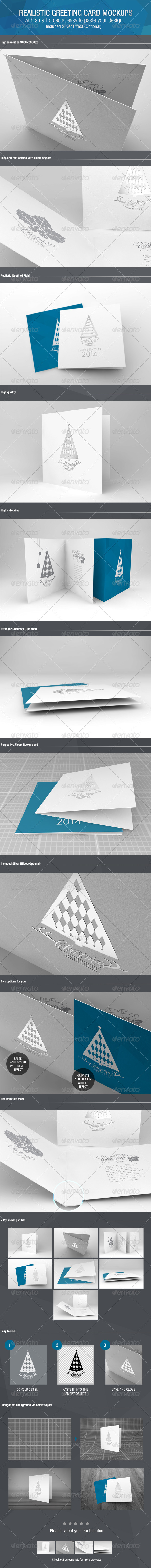 GraphicRiver Realistic Greeting Card Mockups 6243869