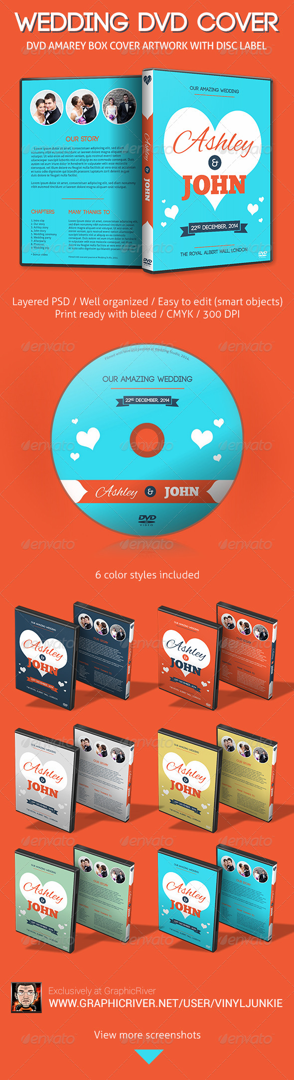 GraphicRiver Our Amazing Wedding DVD Cover Artwork 6244038