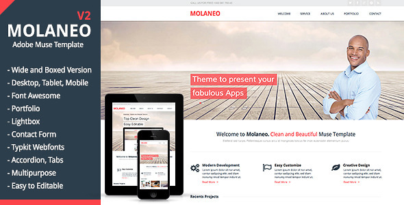 Molaneo - Multi-Purpose Muse Theme - Corporate Muse Templates