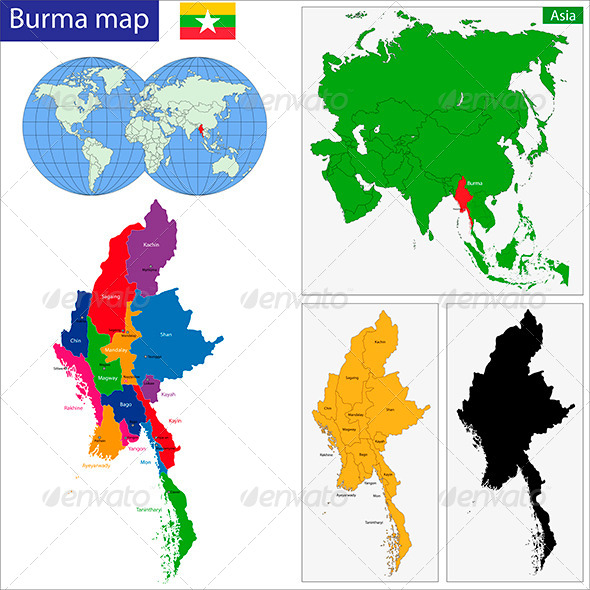 GraphicRiver Burma Map 6244343
