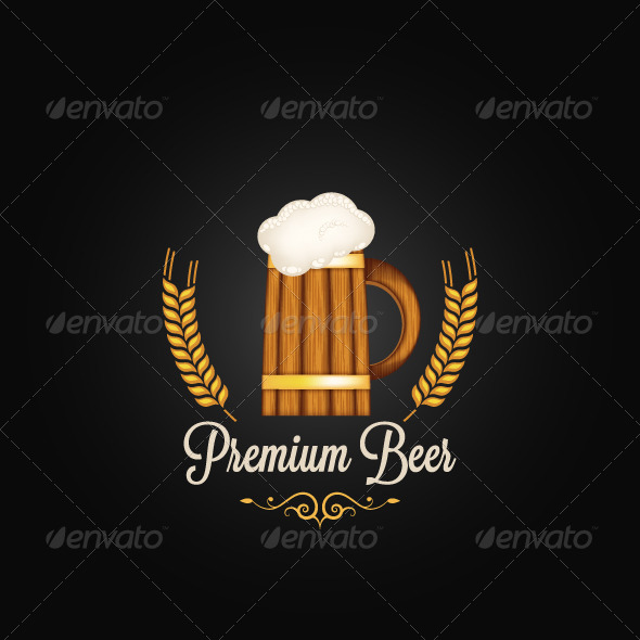 GraphicRiver Beer Mug Vintage Background 6244427
