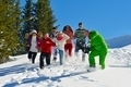 friends have fun at winter on fresh snow - PhotoDune Item for Sale