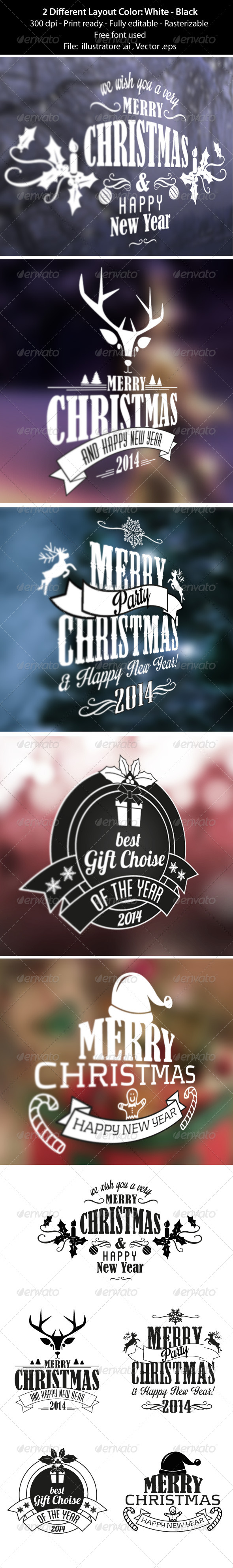 GraphicRiver Merry Christmas Badge & Labels 6233052