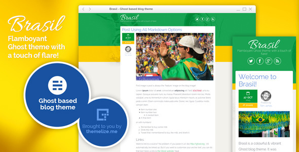 ThemeForest Brasil Ghost Theme 6195169