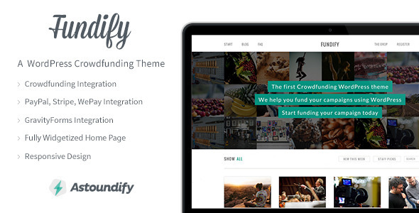 Fundify - The WordPress Crowdfunding Theme - Miscellaneous WordPress