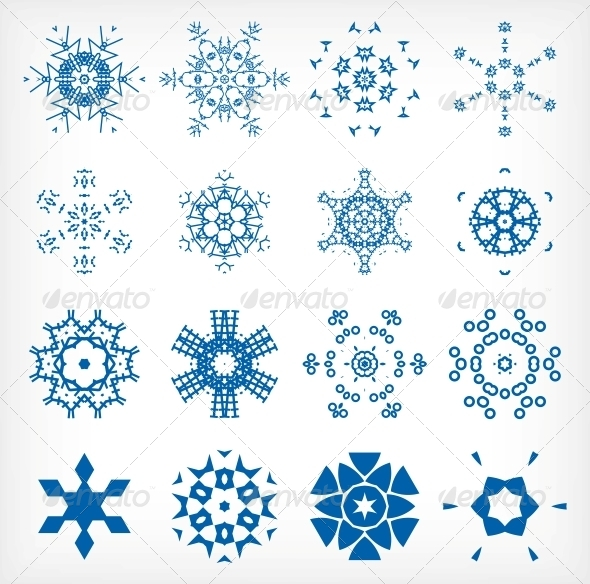 GraphicRiver Set of Isolated Snowflakes for Christmas Decor 6245546