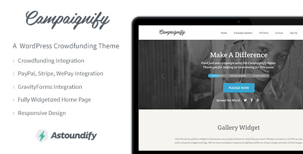Campaignify - Crowdfunding WordPress Theme - Miscellaneous WordPress