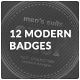 12 Modern Badges - GraphicRiver Item for Sale