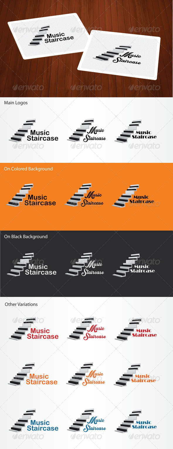 GraphicRiver Music Staircase Logo 6246046