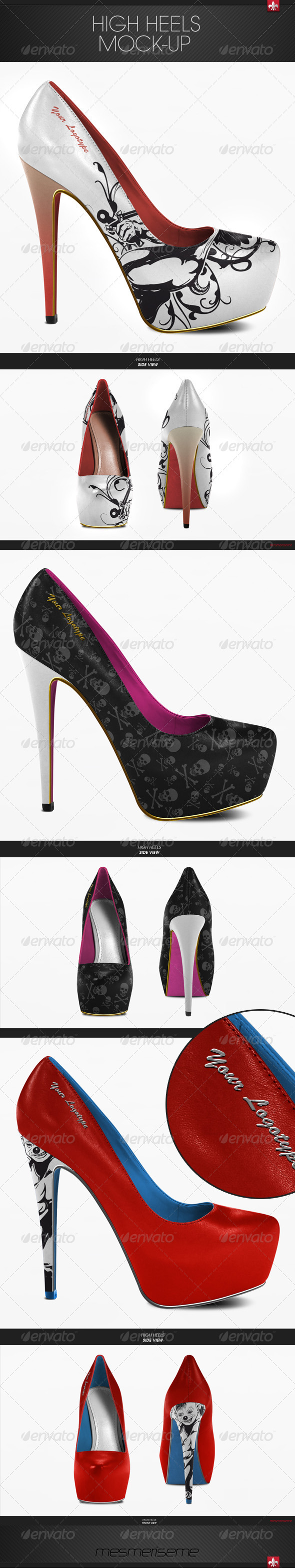 GraphicRiver Platform High Heels Mock-up 6246682