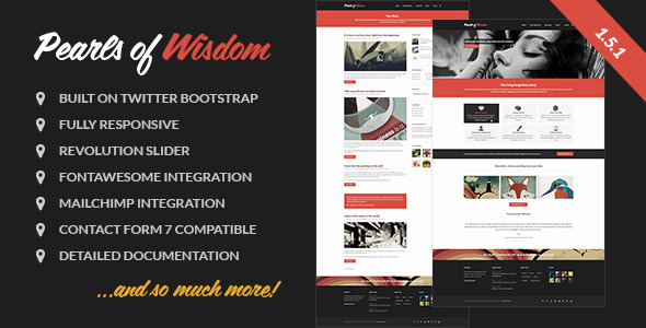 Pearls of Wisdom responsive theme -
