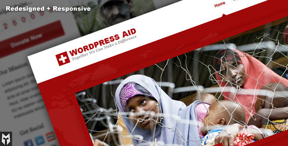 Aid: Responsive Charity + Blog WP Theme - Charity Nonprofit