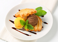 Two scoops of ice cream with puff pastry biscuits - PhotoDune Item for Sale