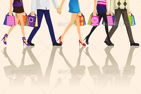 GraphicRiver Shopping People 6246958