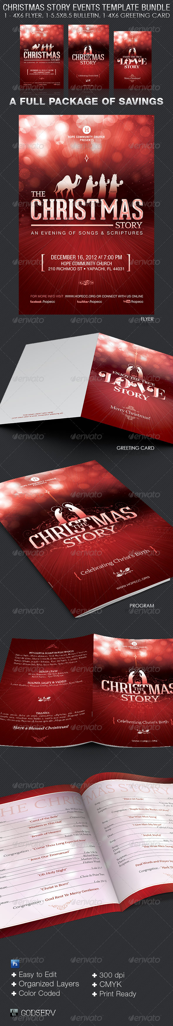 GraphicRiver Christmas Story Event Template Bundle 6247000