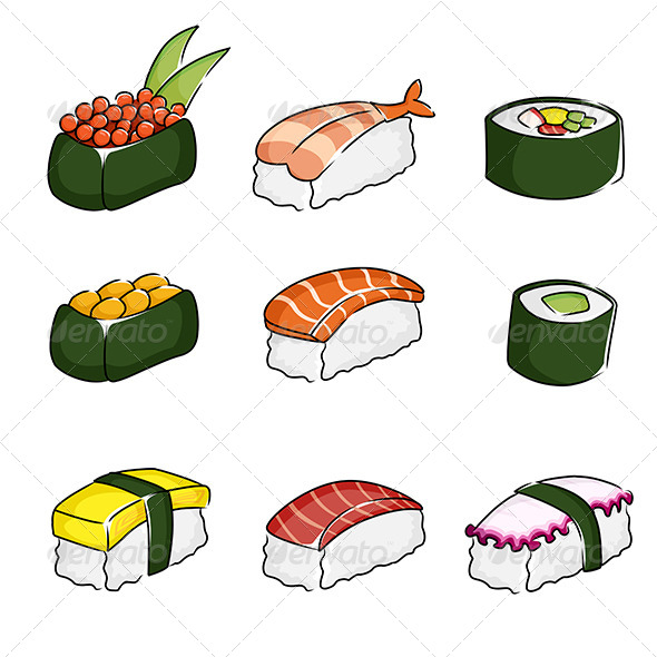 GraphicRiver Sushi Icons 6247007