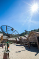 satellite dish over sunny sky - PhotoDune Item for Sale