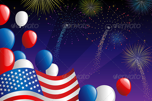 GraphicRiver Fourth of July Fireworks 6247846
