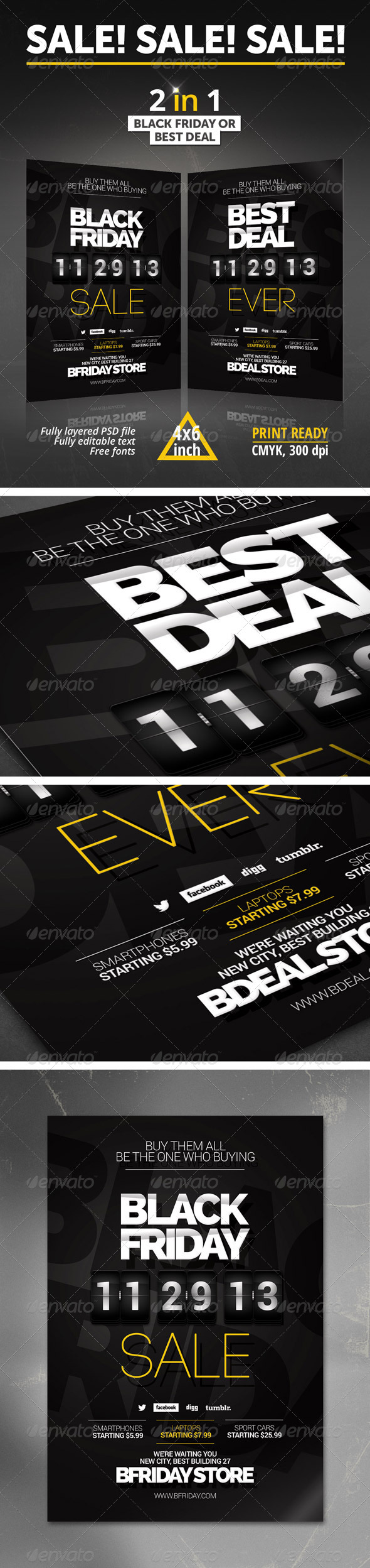 GraphicRiver Black Friday Best Deal Flyer 6247959