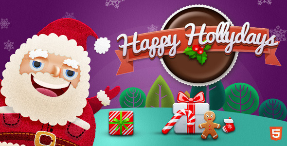 Happy Hollydays Intro Page  - Specialty Pages Site Templates