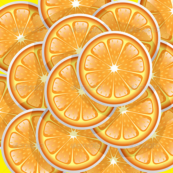 GraphicRiver Oranges Slices Pattern 6248536