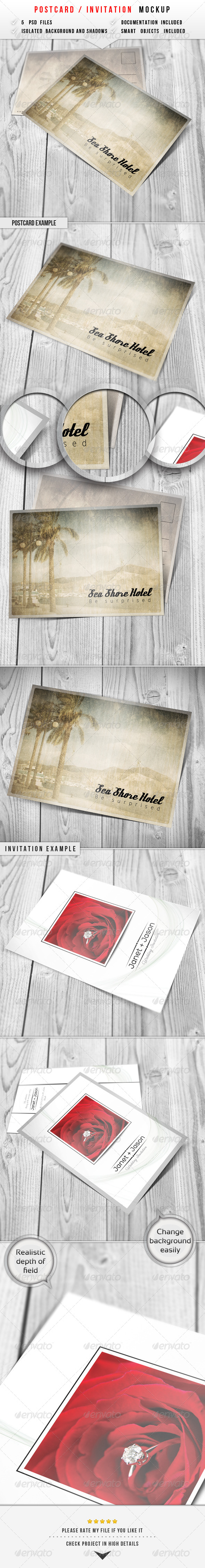 GraphicRiver Postcard & Invitation Mockup 6249130