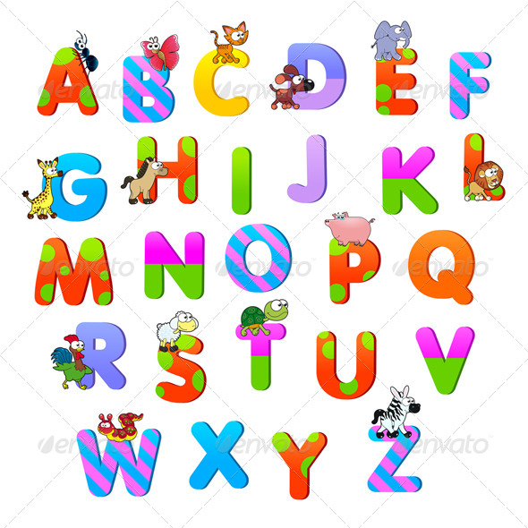 GraphicRiver Alphabet with Animals 6249782