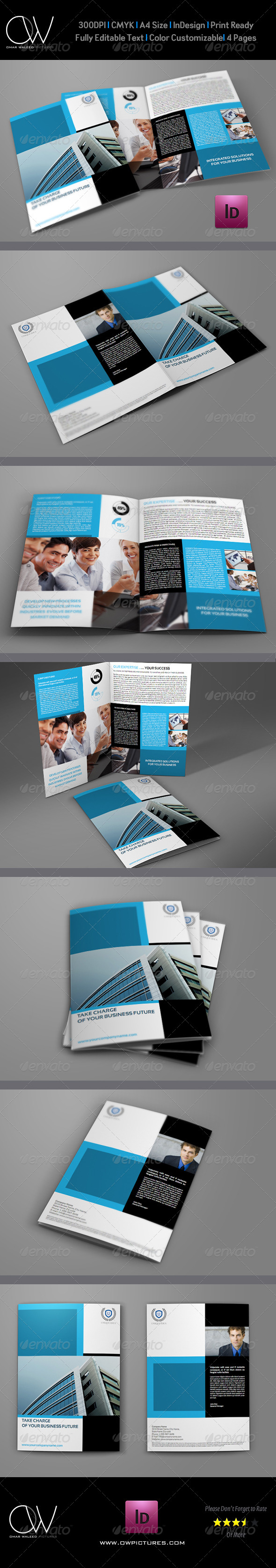 GraphicRiver Company Brochure Bi-Fold Template Vol.9 6249960