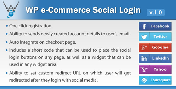 CodeCanyon WP e-Commerce Social Login WordPress plugin 6250167