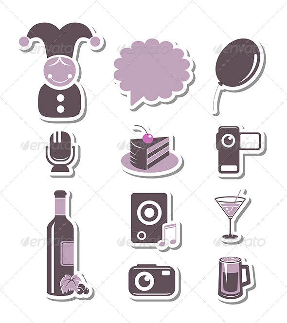 GraphicRiver Holidays and Party Paper Symbols 6250269