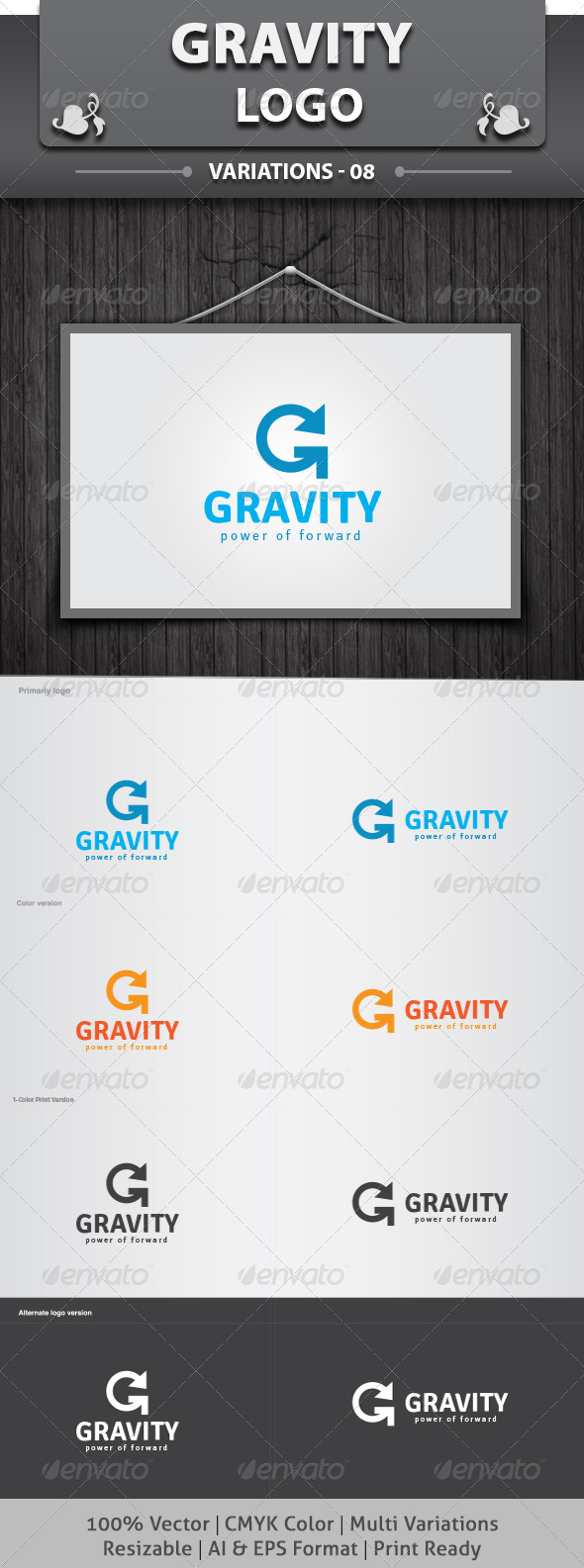 GraphicRiver Gravity Logo 6250272