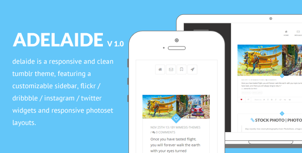 ThemeForest Adelaide Responsive Tumblr Theme 6250435