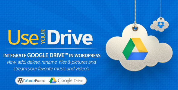 Use-your-Drive | WordPress Plugin This plugin will help you to easily integrate Google Drive into your WordPress website or blog. Use-your-Drive allows you to v
