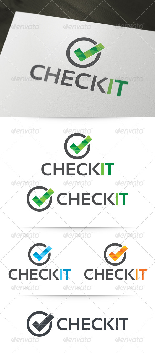 GraphicRiver Check It Logo Template 6251792