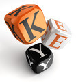 key orange black dice blocks - PhotoDune Item for Sale