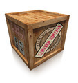 limited edition sign on wooden box crate - PhotoDune Item for Sale