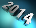 new year 2014 3d text metal - PhotoDune Item for Sale