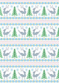 Reindeer with Christmas Trees and Snowflakes - PhotoDune Item for Sale