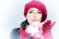 Beauty Winter Woman Blowing Snow - PhotoDune Item for Sale