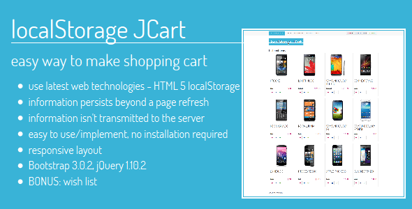 CodeCanyon localStorage JCart 6252536