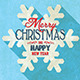 3 Christmas Long Shadow Postcards - GraphicRiver Item for Sale