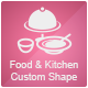 Food and Kitchen Custom Shape Set 3 - GraphicRiver Item for Sale