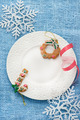 White plate with Christmas decoration - PhotoDune Item for Sale