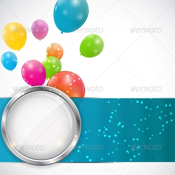 GraphicRiver Color Glossy Balloons Background 6253706