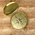 3D compass on wooden background - PhotoDune Item for Sale